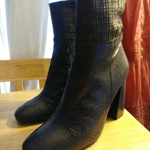 Free People Textured Leather Booties